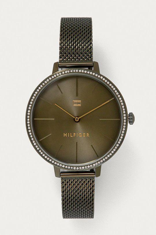 oliwkowy Tommy Hilfiger - Zegarek 1782116 Damski