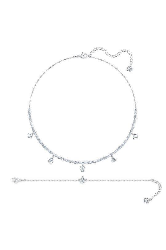 Swarovski - Naszyjnik i bransoletka TENNIS DLXMC Metal, Kryształ Swarovskiego