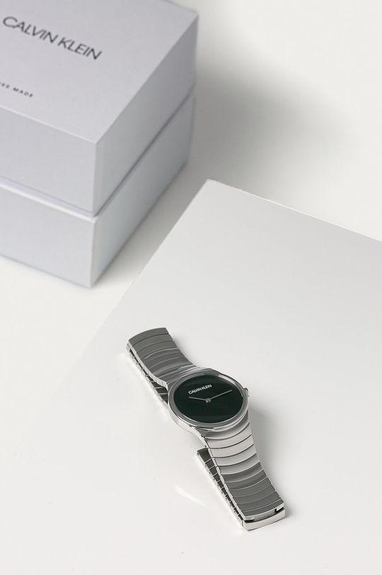 srebrny Calvin Klein - Zegarek K8A23141