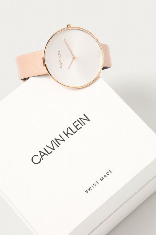 Calvin Klein - Hodinky K8Y236Z6  Přírodní kůže, Ocel, Minerální sklo