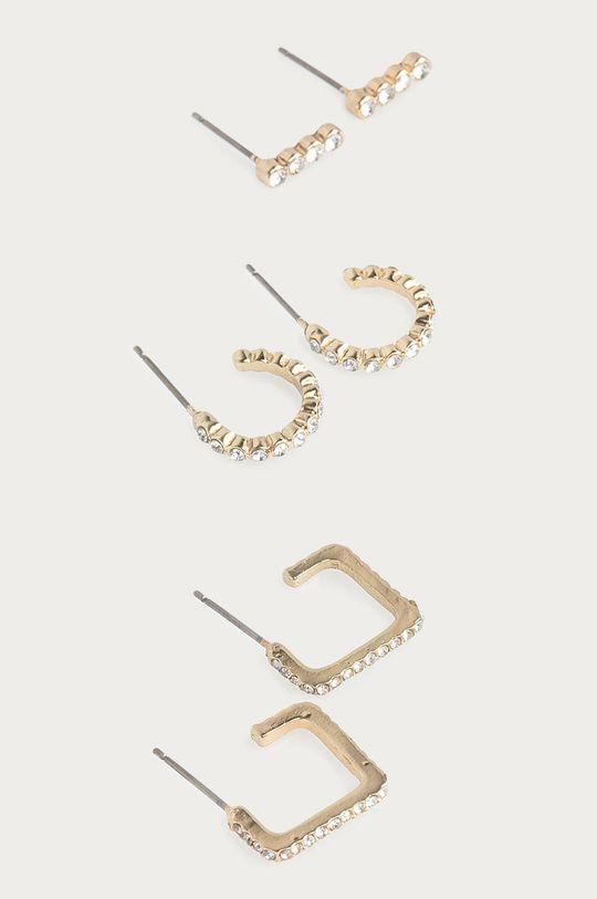 zlatá Pieces - Náušnice (3-pack) Dámský