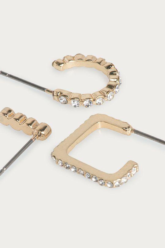 Pieces - Náušnice (3-pack) zlatá