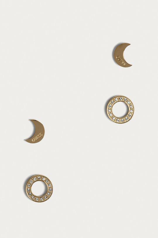 zlatá Guess Jeans - Náušnice (2-pack) Dámský