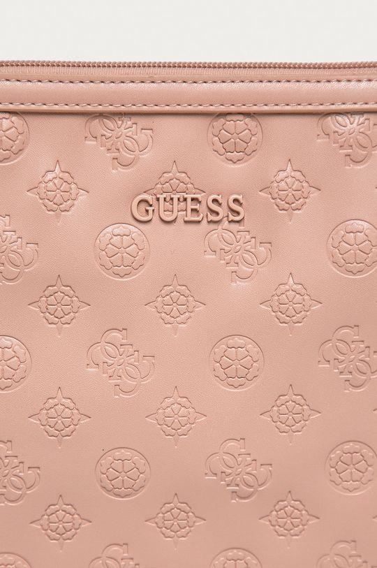 Guess - Kosmetyczka pastelowy różowy