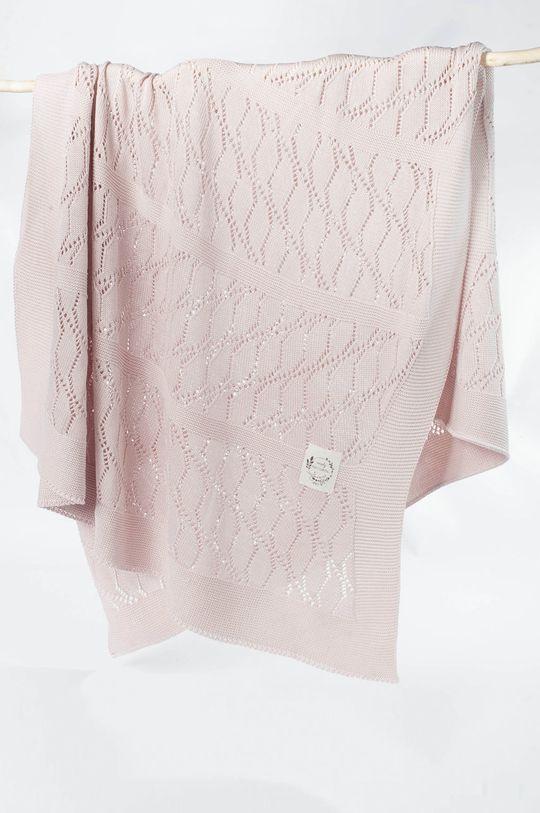 Jamiks - Kojenecká deka pastelově růžová