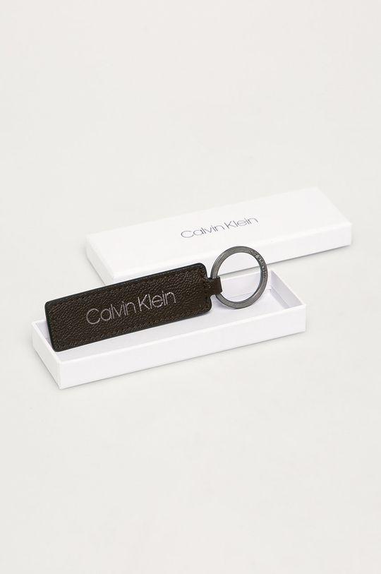 Calvin Klein - Kožená kľúčenka  100% Prírodná koža