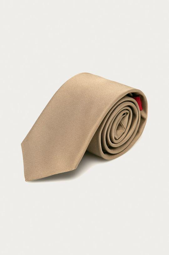 beżowy Hugo - Krawat Męski