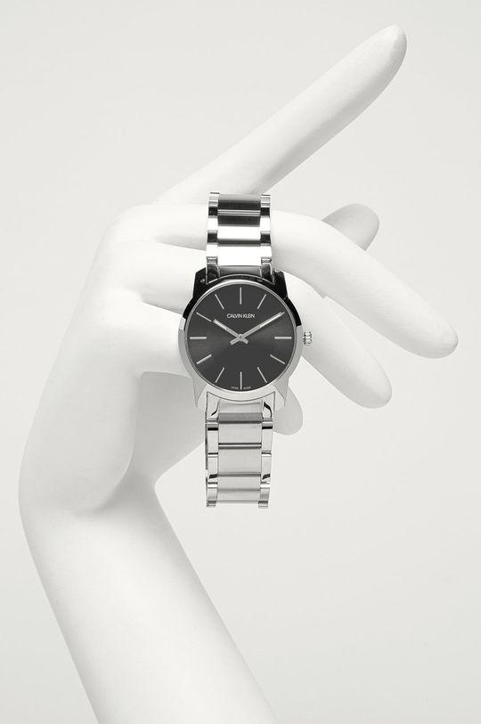 srebrny Calvin Klein - Zegarek K2G22143 Męski