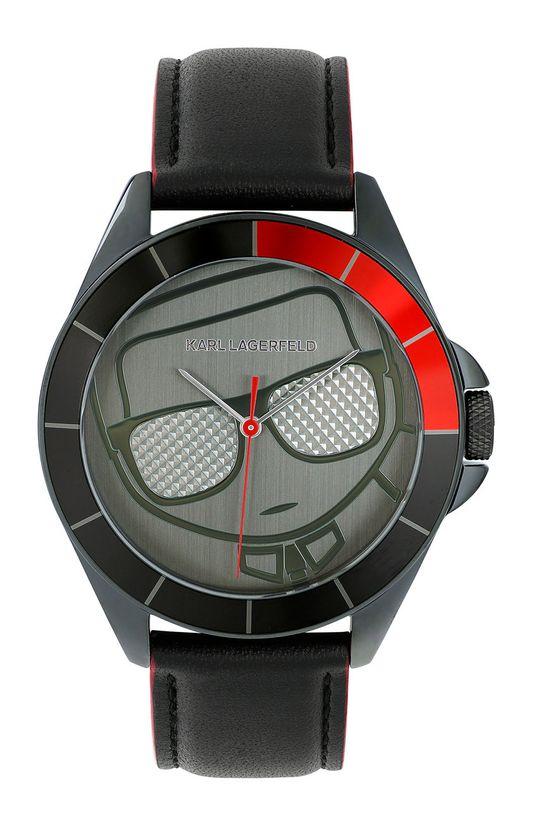 černá Karl Lagerfeld - Hodinky 5552778 Pánský