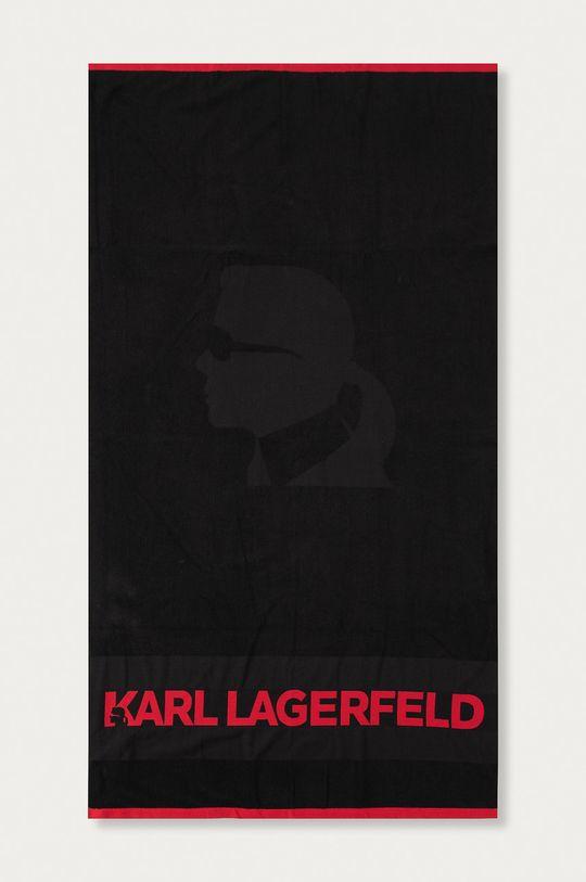 czarny Karl Lagerfeld - Ręcznik Unisex