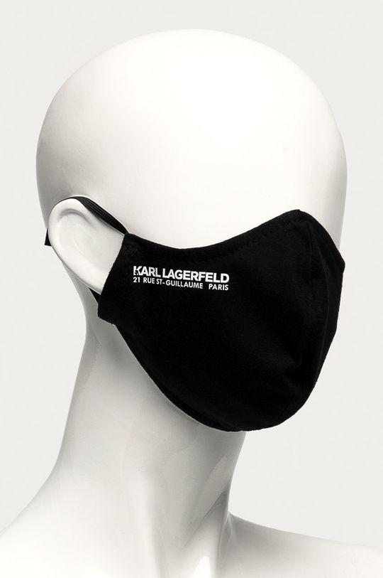 Karl Lagerfeld - Ochranné rúško na viacnásobné použitie čierna