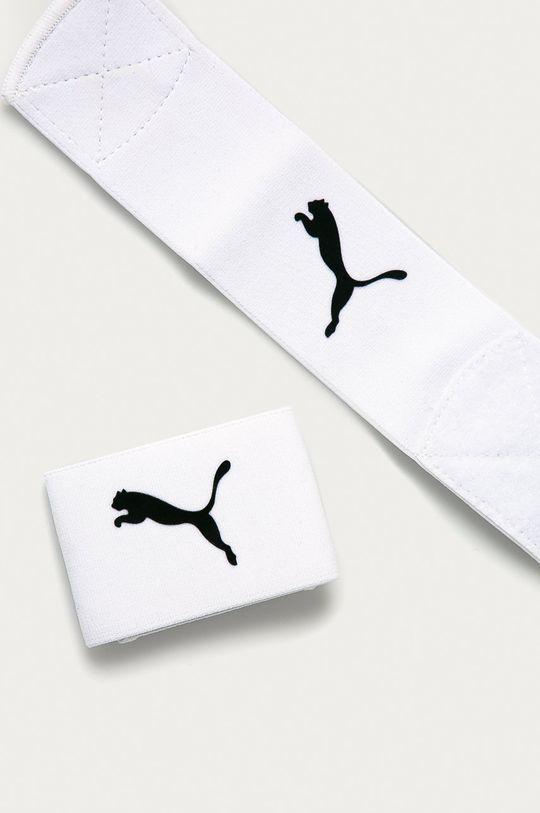 Puma - Stopery do skarpet piłkarskich biały
