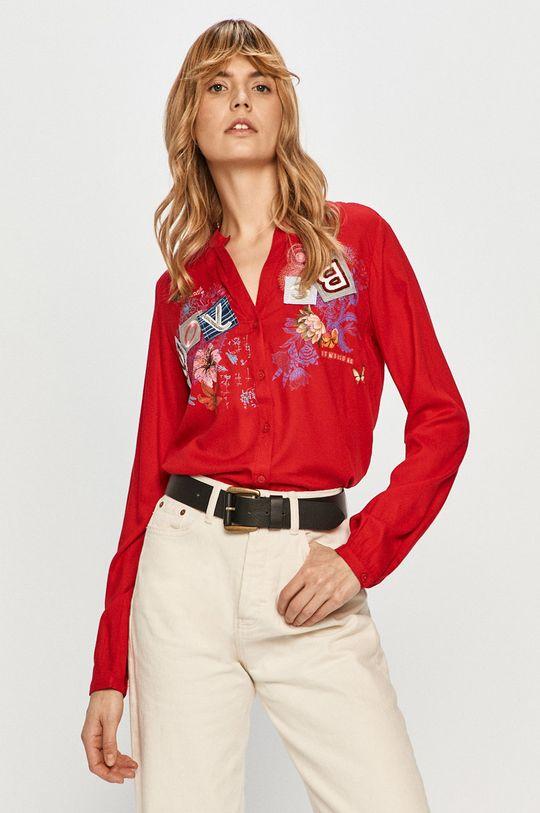 czerwony Desigual - Koszula Damski