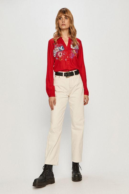 Desigual - Koszula czerwony