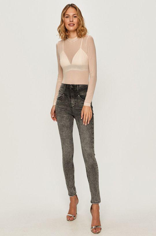 Guess Jeans - Longsleeve różowy