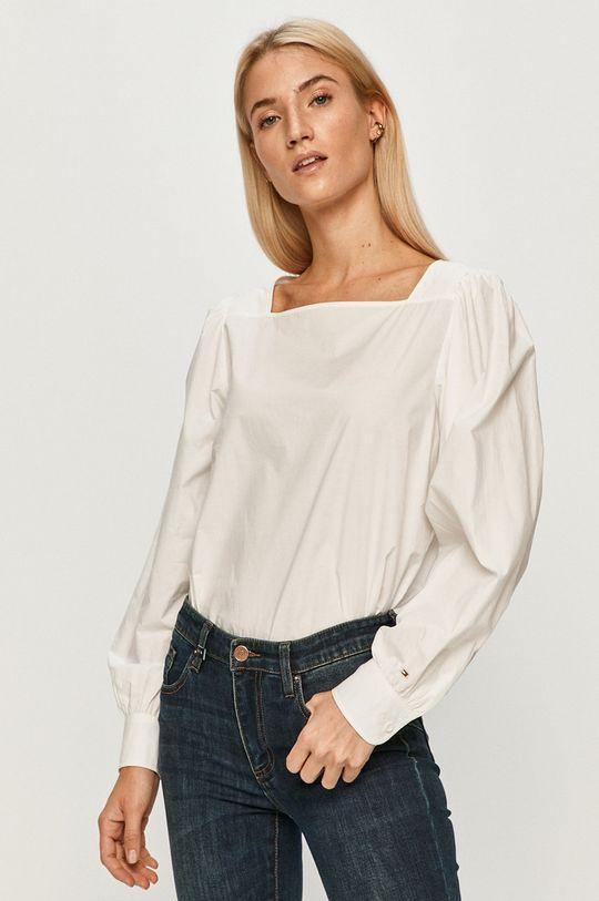 alb Tommy Hilfiger - Bluza de bumbac pentru copii De femei