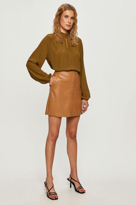 Vero Moda - Bluzka jasny oliwkowy