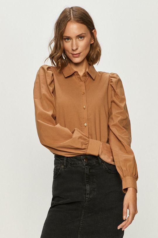 brązowy Vero Moda - Koszula bawełniana Damski
