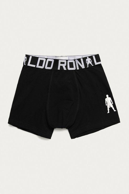 černá CR7 Cristiano Ronaldo - Dětské boxerky (2-pack)