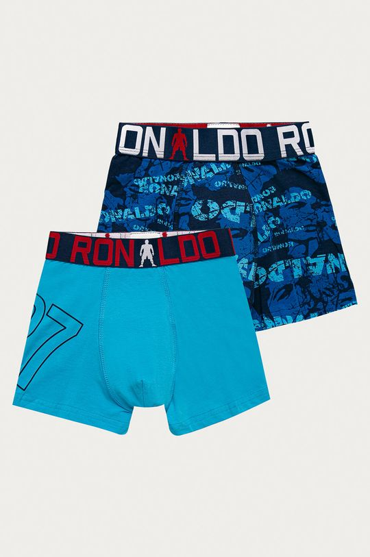 modrá CR7 Cristiano Ronaldo - Dětské boxerky (2-pack) Chlapecký