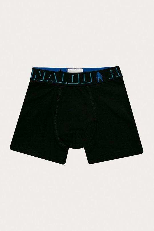černá CR7 Cristiano Ronaldo - Dětské boxerky (5-pack)