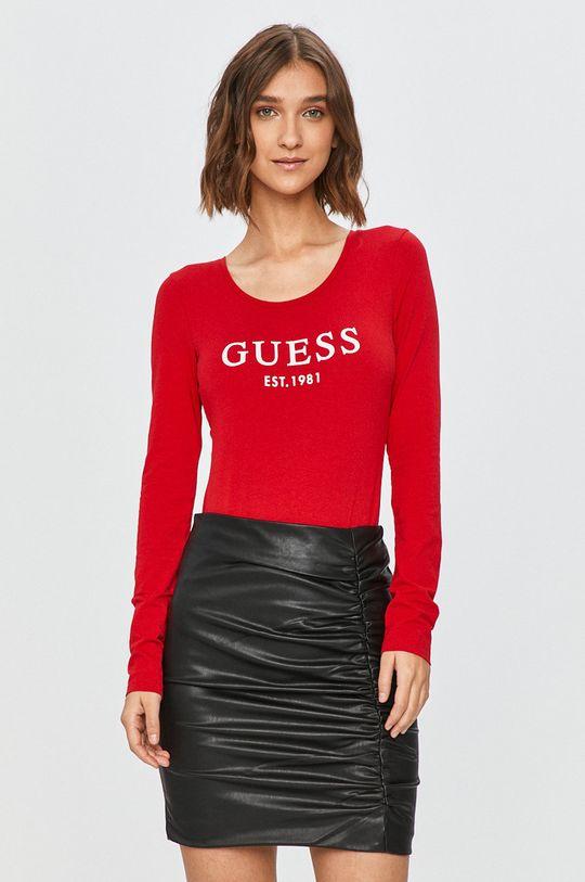 rosu Guess Jeans - Longsleeve De femei