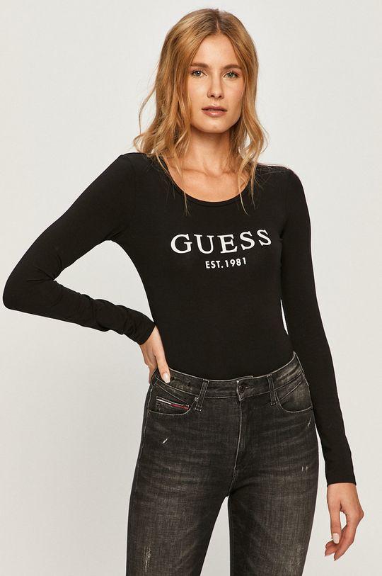 negru Guess Jeans - Longsleeve De femei