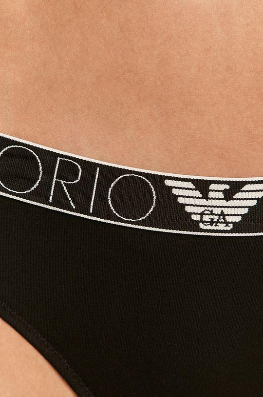 čierna Emporio Armani - Brazílske nohavičky (2-pak)
