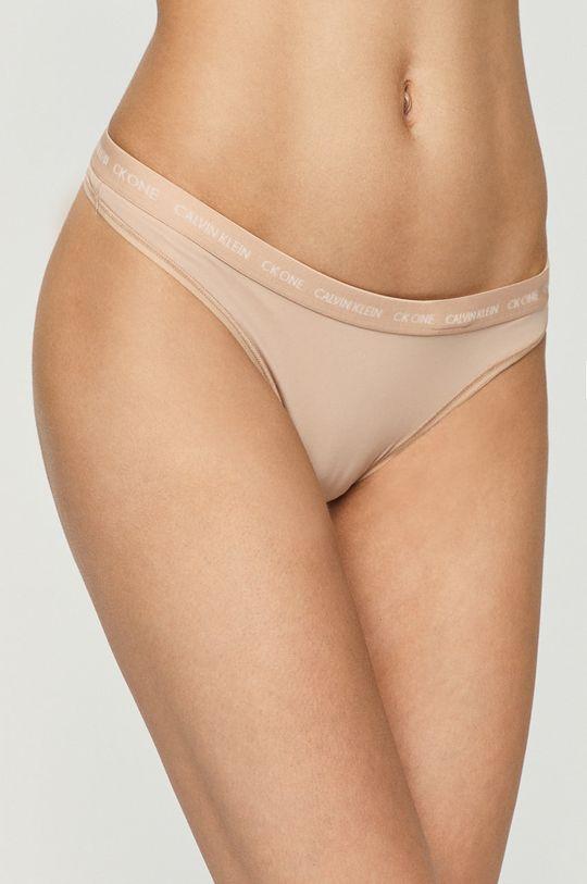 bej Calvin Klein Underwear - Tanga CK One De femei