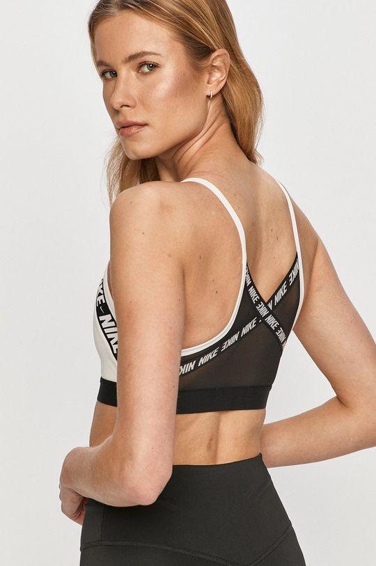 Nike - Športová podprsenka  1. látka: 12% Elastan, 88% Polyester 2. látka: 22% Elastan, 78% Nylón 3. látka: 10% Elastan, 62% Nylón, 28% Polyester
