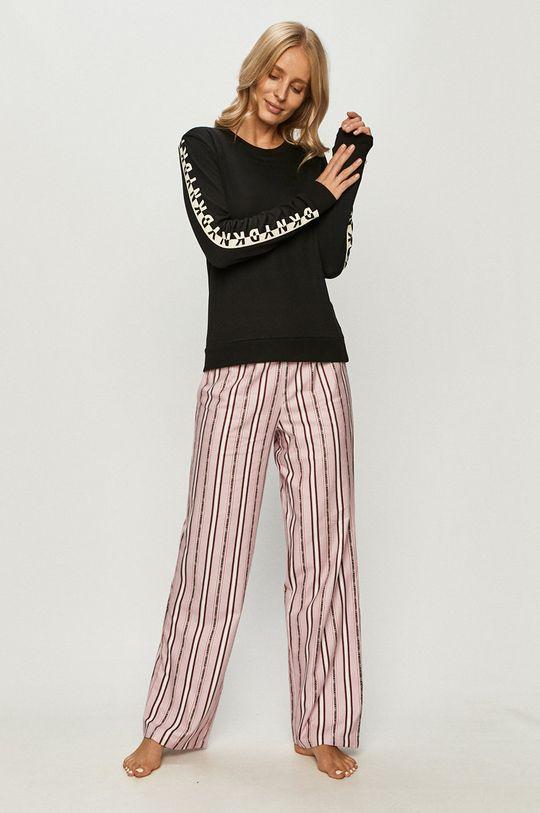 Dkny - Longsleeve de pijama negru