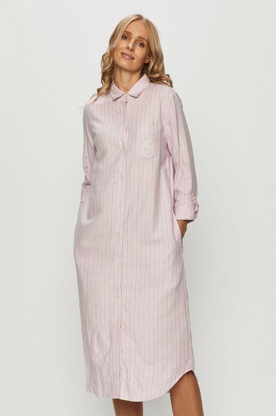 ružová Lauren Ralph Lauren - Nočná košeľa Dámsky
