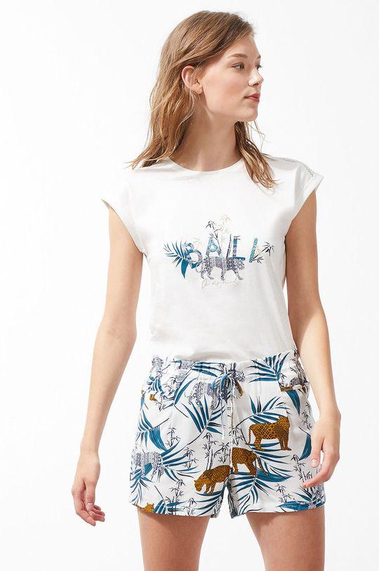 kremowy Etam - Szorty piżamowe Beverly