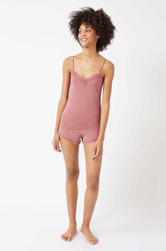 Etam - Szorty piżamowe CIDDY pastelowy różowy