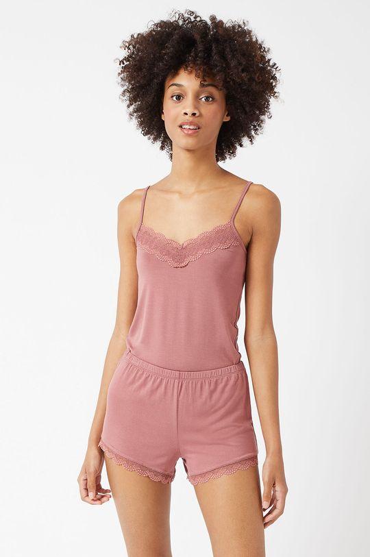 pastelowy różowy Etam - Szorty piżamowe CIDDY
