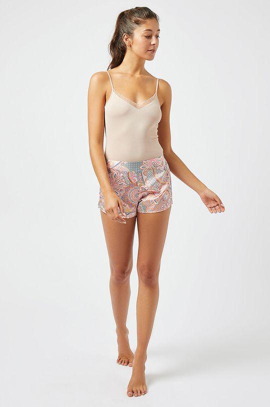 Etam - Top piżamowy BROOKLYN pastelowy różowy