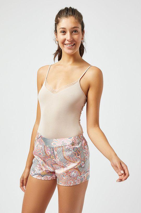 pastelowy różowy Etam - Top piżamowy BROOKLYN