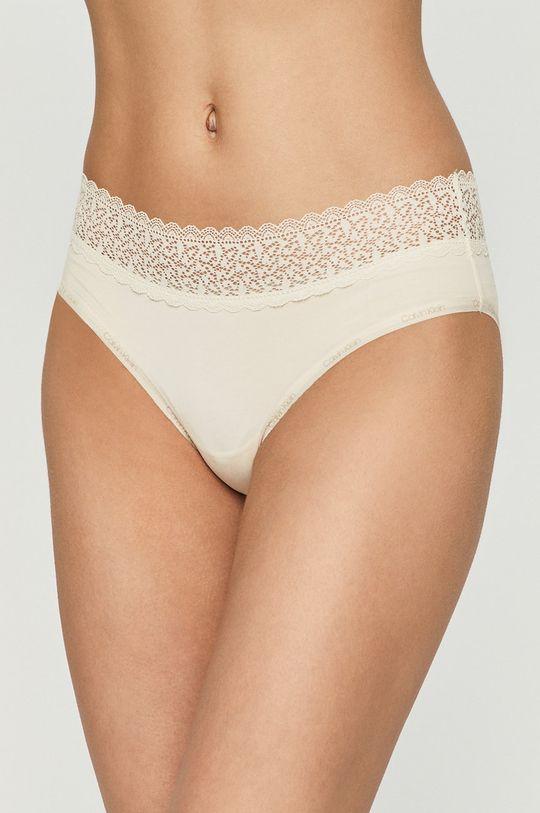 kremowy Calvin Klein Underwear - Figi Damski