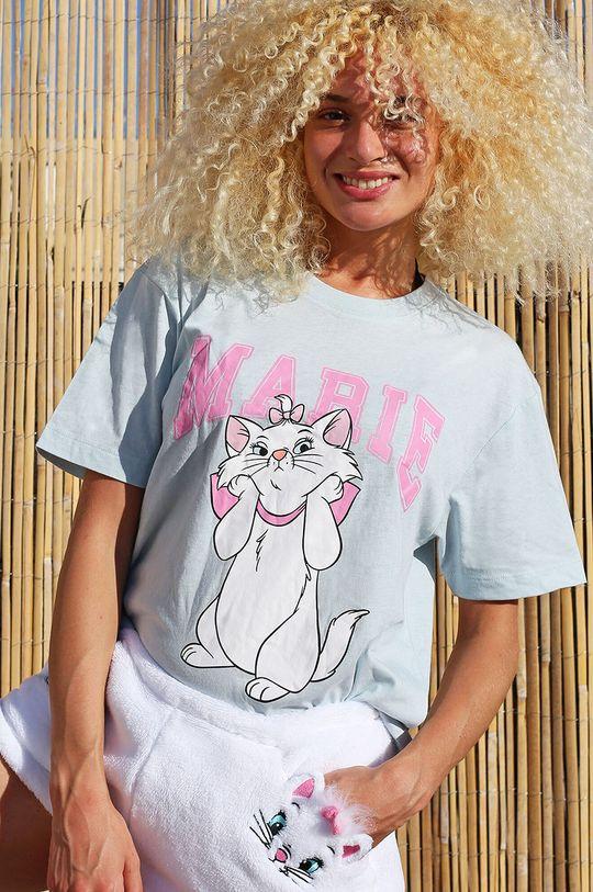 Undiz - T-shirt piżamowy MARIHEARTIZ jasny szary
