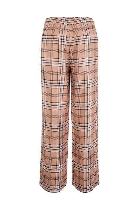 Undiz - Pyžamové kalhoty CHECKIZ starorůžová