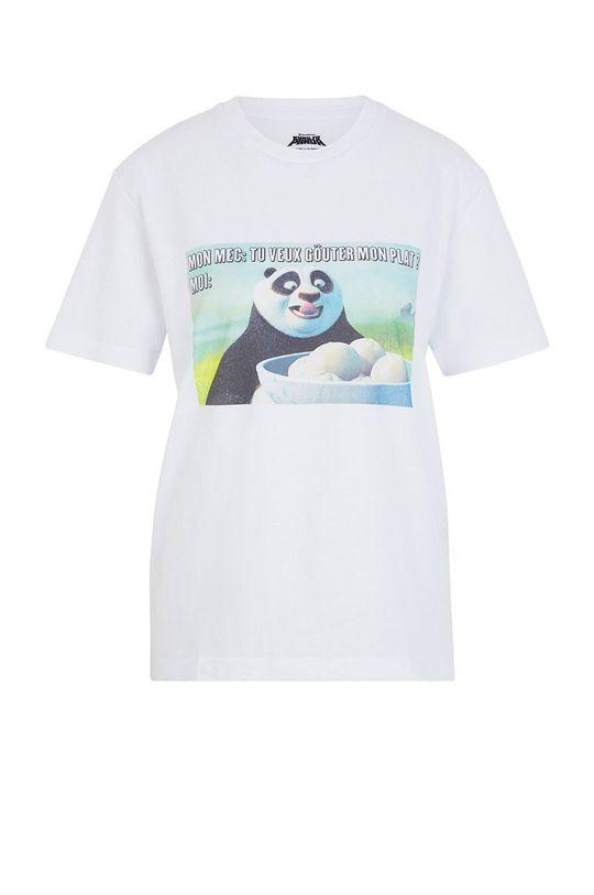 bílá Undiz - Pyžamové tričko KUNGFUPANDIZ Dámský