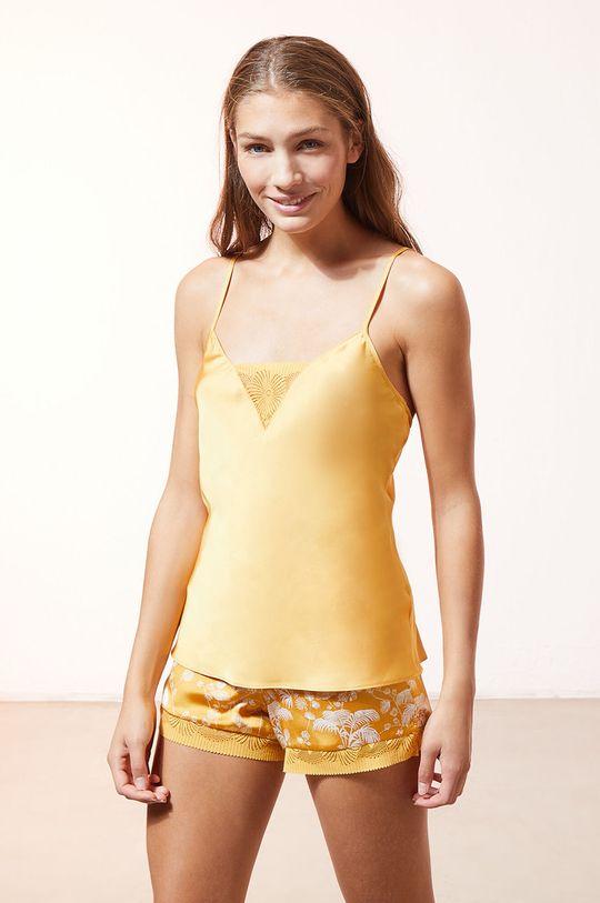 żółty Etam - Top piżamowy EVENTAIL Damski