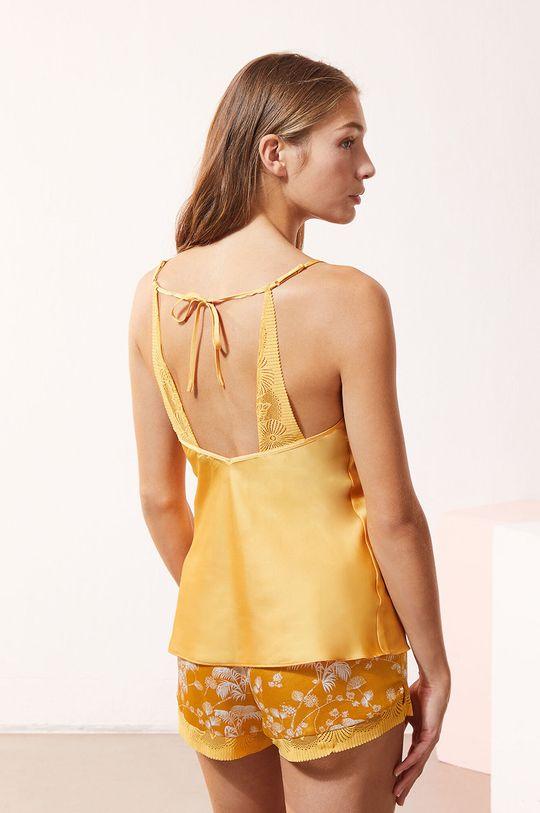 Etam - Top piżamowy EVENTAIL żółty