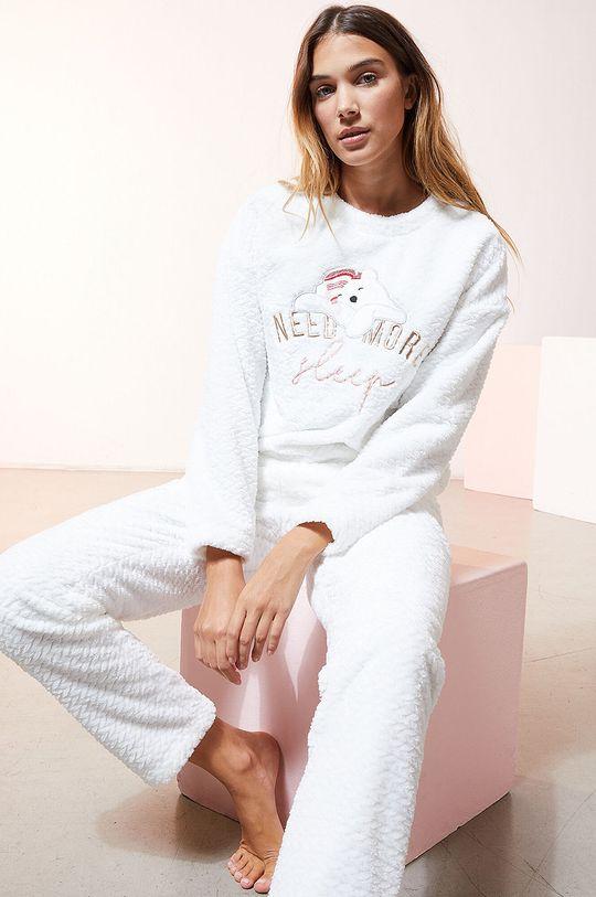 biały Etam - Spodnie piżamowe OOJAM