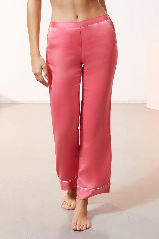 czerwony róż Etam - Spodnie piżamowe CATWALK Damski