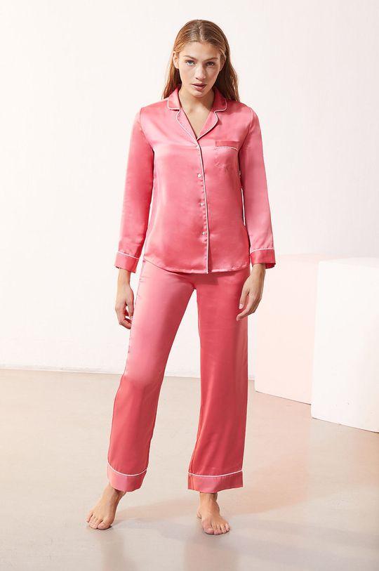 Etam - Spodnie piżamowe CATWALK czerwony róż