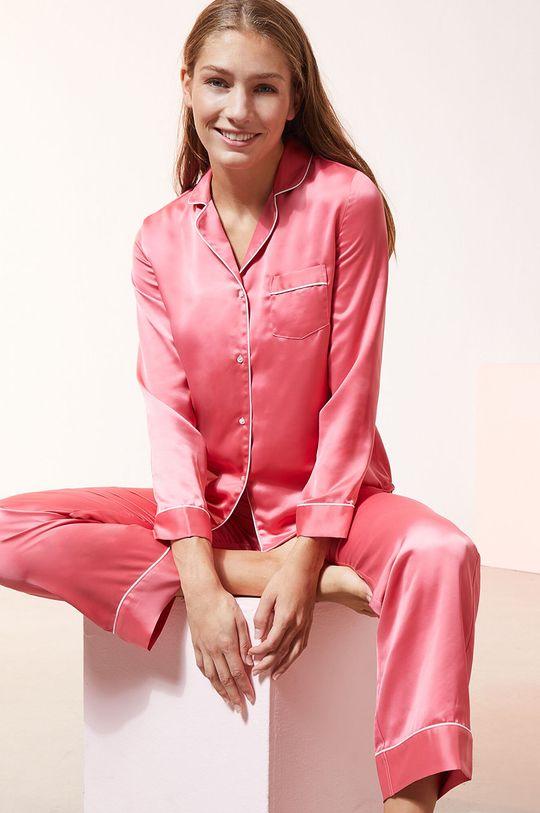 czerwony róż Etam - Spodnie piżamowe CATWALK
