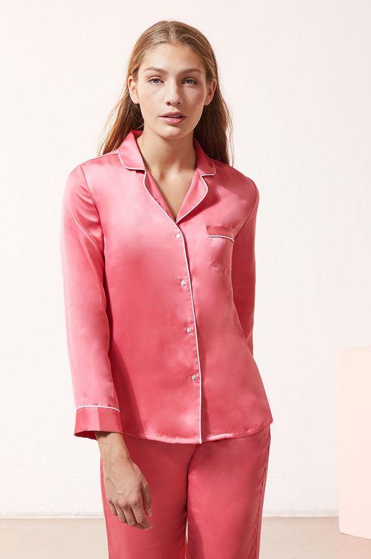 czerwony róż Etam - Koszula piżamowa CATWALK Damski