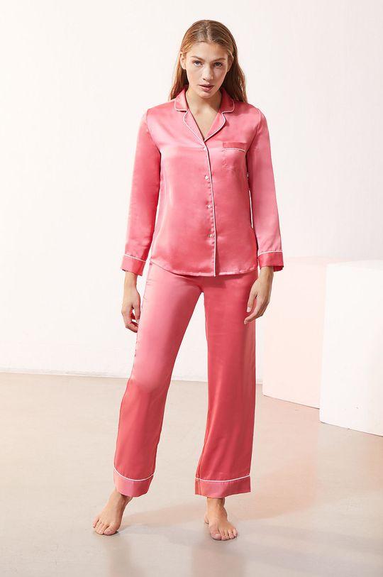 Etam - Koszula piżamowa CATWALK czerwony róż
