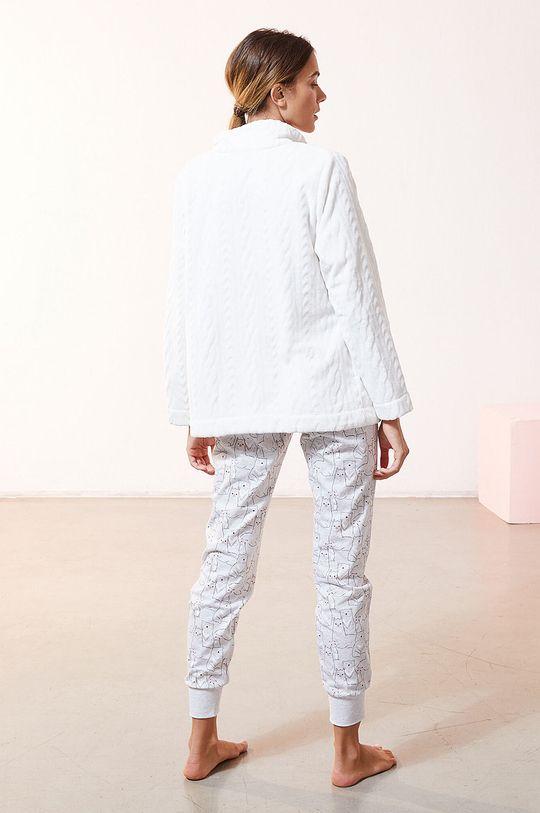 biały Etam - Komplet piżamowy 3-częściowy OANA